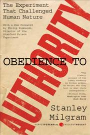 Cover of: Obedience to Authority