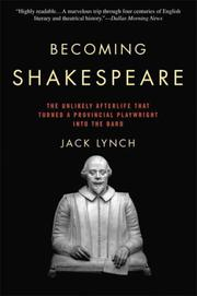 Cover of: Becoming Shakespeare