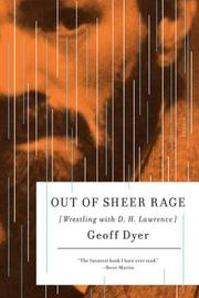 Cover of: Out of Sheer Rage