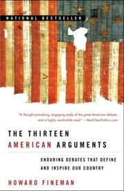 Cover of: The Thirteen American Arguments