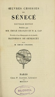 Cover of: Oeuvres choisies de Sénecé