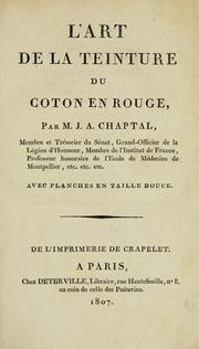 Cover of: L' art de la teinture du coton en rouge