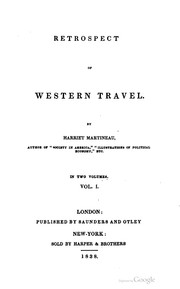 Cover of: Retrospect of western travel.