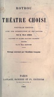 Cover of: Théâtre choisi.