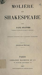 Cover of: Molière et Shakespeare