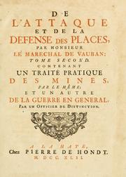 Cover of: De l'attaque et de la defense des places