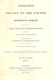 Cover of: Narrative of a voyage to the Pacific and Beering's Strait