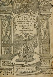 Cover of: Diuerse imprese accommodate a diuerse moralità
