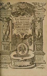 Cover of: Los emblemas de Alciato