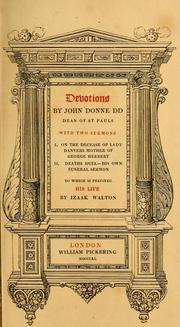 Cover of: Devotions