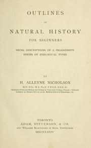 Cover of: Outlines of Natural History for Beginners: Being Descriptions of a Progressive Series of Zoological Types