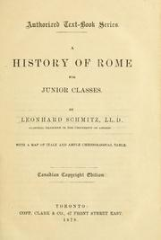 Cover of: A history of Rome with a map of Italy and ample chronological table
