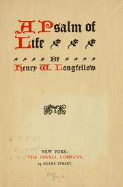 Cover of: A psalm of life