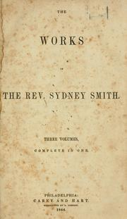 Cover of: The work of Sydney Smith