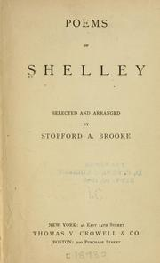 Cover of: Poems of Shelley
