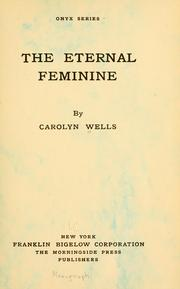 Cover of: The eternal feminine