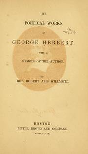 Cover of: The poetical works of George Herbert: With a memoir of the author.