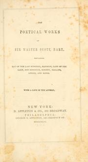Cover of: The poetical works of Sir Walter Scott, bart