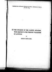 Cover of: On the dynamics of the earth's rotation with respect to the periodic variations of latitude
