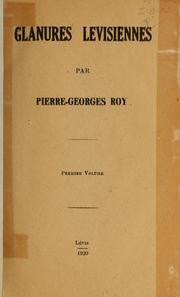 Cover of: Glanures levisiennes.