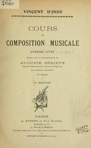 Cover of: Cours de composition musicale.