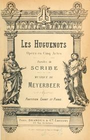 Cover of: Les Huguenots