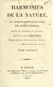 Cover of: Harmonies de la nature