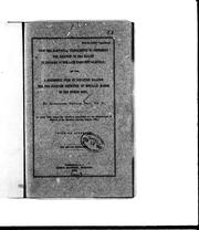 Cover of: Upon the electrical experiments to determine the location of the bullet in the body of the late President Garfield; and upon a successful form of induction balance for the painless detection of metallic masses in the human body