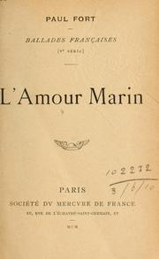 Cover of: L' amour marin.
