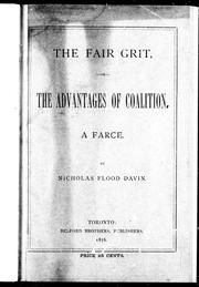 Cover of: The fair grit, or, The advantages of coalition