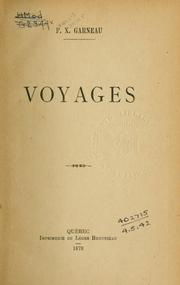 Cover of: Voyages.