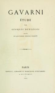 Cover of: Gavarni : étude