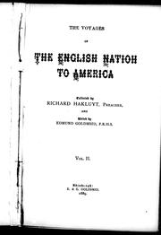 Cover of: The voyages of the English nation to America
