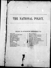 Cover of: The national policy