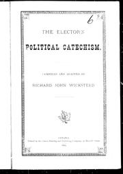 Cover of: The elector's political catechism
