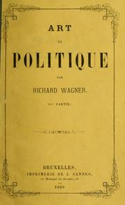 Cover of: Art et politique