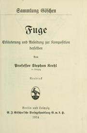 Cover of: Fuge