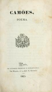 Cover of: Camões : poema