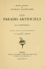 Cover of: Les pardis artificiels.  La fanfarlo