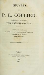 Cover of: Œuvres de P.L. Courier