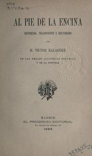 Cover of: Al pie de la encina