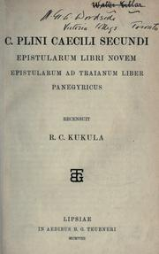 Cover of: Epistularum libri novem