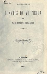 Cover of: Cuentos de mi tierra.