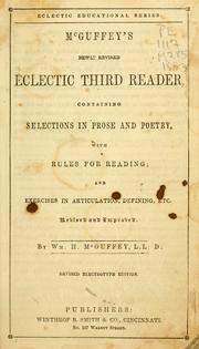 Cover of: McGuffey's newly revised eclectic third reader