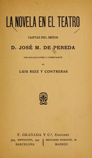 Cover of: La novela en el teatro