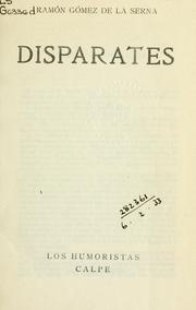 Cover of: Disparates