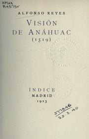 Cover of: Visión de Anáhuac
