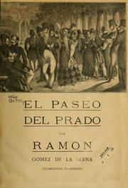 Cover of: El paseo del Prado