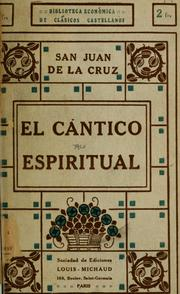 Cover of: El cántico espiritual