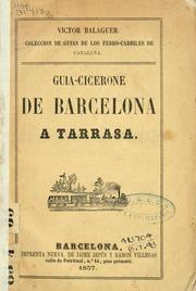 Cover of: Guia-Cicerone de Barcelona a Tarrasa.